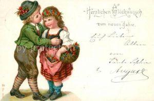 AK / Ansichtskarte Neujahr Kinder Litho  Kat. Greetings