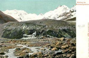 AK / Ansichtskarte Morteratschgletscher Muendung des Gletschers Gebirgspanorama Berninagruppe Kat. Morteratsch