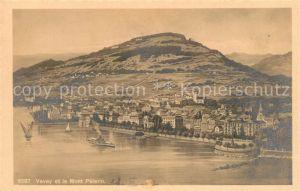 AK / Ansichtskarte Vevey VD et le Mont Pelerin vue aerienne Kat. Vevey