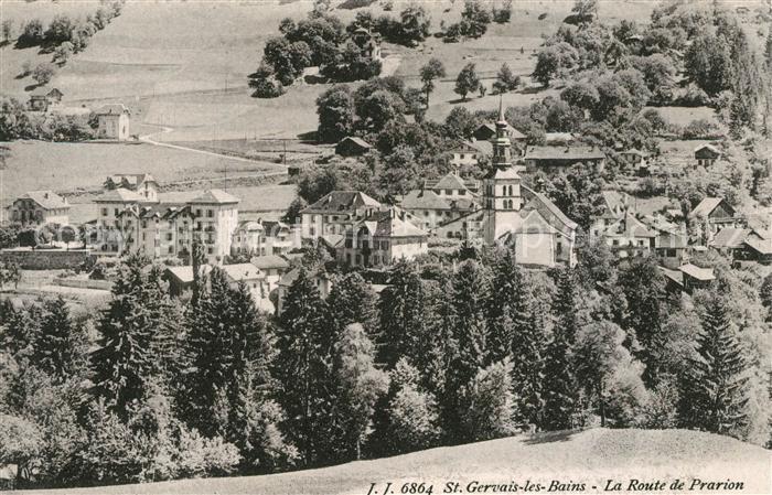 AK / Ansichtskarte Saint Gervais les Bains Route de Prarion Kat. Saint Gervais les Bains