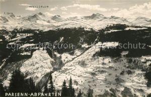 AK / Ansichtskarte Conters Praettigau Parsenn Abfahrten Wintersportplatz Alpen Kat. Conters Praettigau