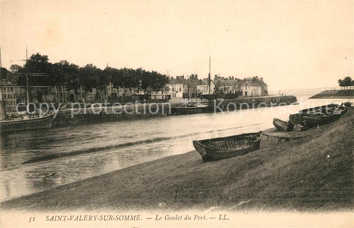 AK / Ansichtskarte Saint Valery sur Somme Le Goulet du Port Kat. Saint Valery sur Somme