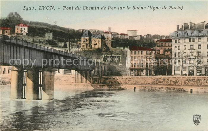 AK / Ansichtskarte Lyon France Pont du Chemin de Fer sur la Saone Kat. Lyon