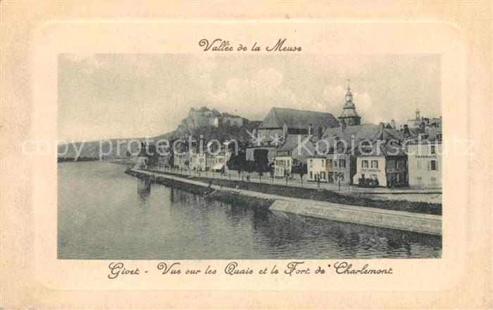 AK / Ansichtskarte Givet Ardennes Vue sur les Quais et Fort de Charlemont Vallee de la Meuse Kat. Givet