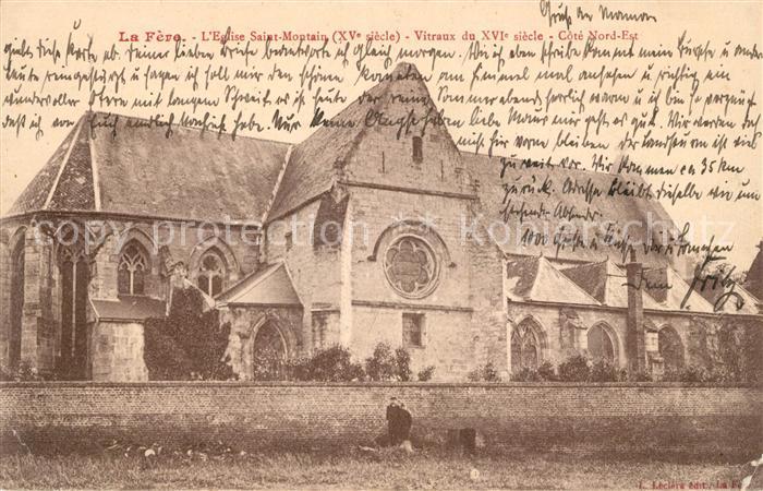 AK / Ansichtskarte La Fere Aisne Eglise Saint Montain XV siecle Vitraux du XVI siecle Kat. La Fere
