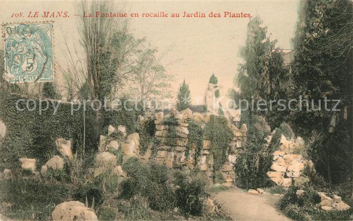 AK / Ansichtskarte Le Mans Sarthe Fontaine en rocaille au Jardin des ...