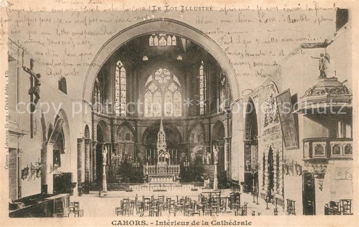 AK / Ansichtskarte Cahors Interieur de la Cathedrale Kat. Cahors