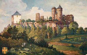 AK / Ansichtskarte Greifenstein Hessen Burg Greifenstein Kuenstlerkarte Kat. Greifenstein