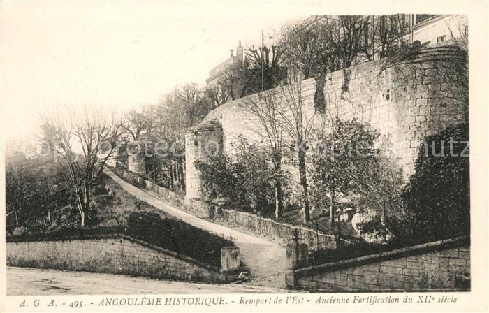 AK / Ansichtskarte Angouleme Rempart de l Est ancienne Fortification du XII siecle Kat. Angouleme