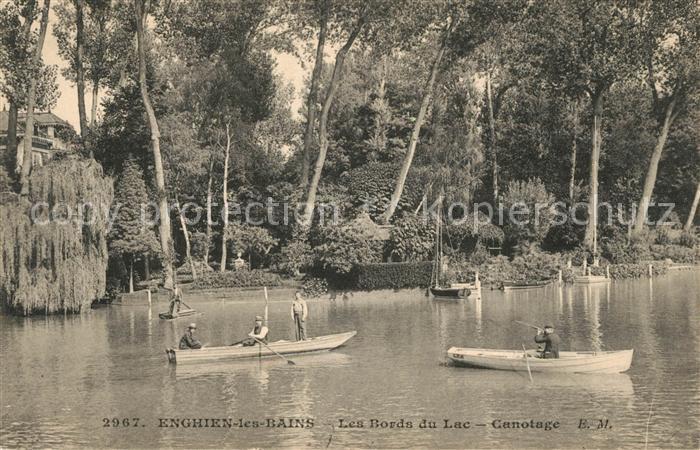AK / Ansichtskarte Enghien les Bains Les Bords du Lac Canotage Kat. Enghien les Bains