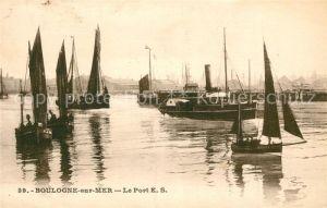 AK / Ansichtskarte Boulogne sur Mer Le Port E. S. Bateaux Kat. Boulogne sur Mer