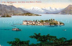 AK / Ansichtskarte Isola Bella Isola Madre e Pallanza Lago Maggiore Kat. Lago Maggiore