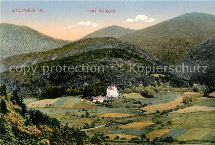 AK / Ansichtskarte Badenweiler Haus Waldeck Panorama Kat. Badenweiler