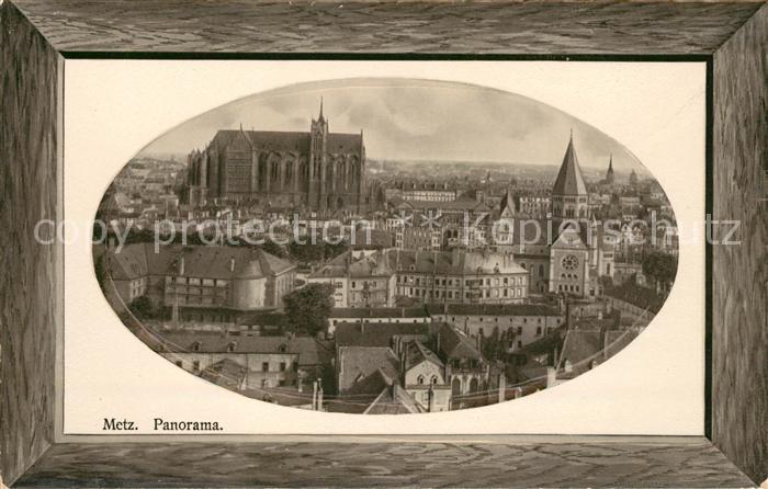 AK / Ansichtskarte Metz Moselle Panorama Kathedrale Stadtzentrum Bilderrahmen Kat. Metz