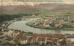 AK / Ansichtskarte Grenoble Panorama de la Tronche Ile Verte et la Chaine des Alpes Kat. Grenoble