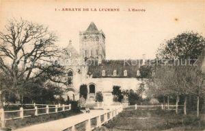AK / Ansichtskarte La Lucerne Abbaye Entree Kat. La Lucerne d Outremer