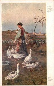 AK / Ansichtskarte Verlag Wiener Kunst Nr. 1148 Rud. Konopa Gaensemaedchen  Kat. Verlage