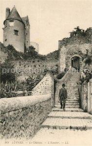 AK / Ansichtskarte Luynes Indre et Loire Chateau Escalier