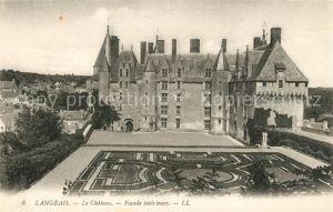 AK / Ansichtskarte Langeais Chateau Facade interieure Schloss Kat. Langeais