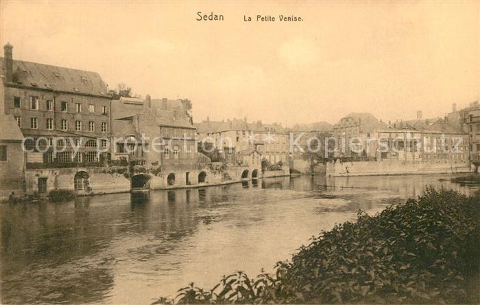 AK / Ansichtskarte Sedan Ardennes La Petite Venise Bords de la Meuse Kat. Sedan