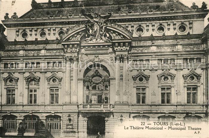 AK / Ansichtskarte Tours Indre et Loire Theatre Municipal Kat. Tours