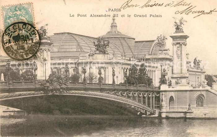 AK / Ansichtskarte Paris Pont Alexandre III et le Grand Palais Kat. Paris