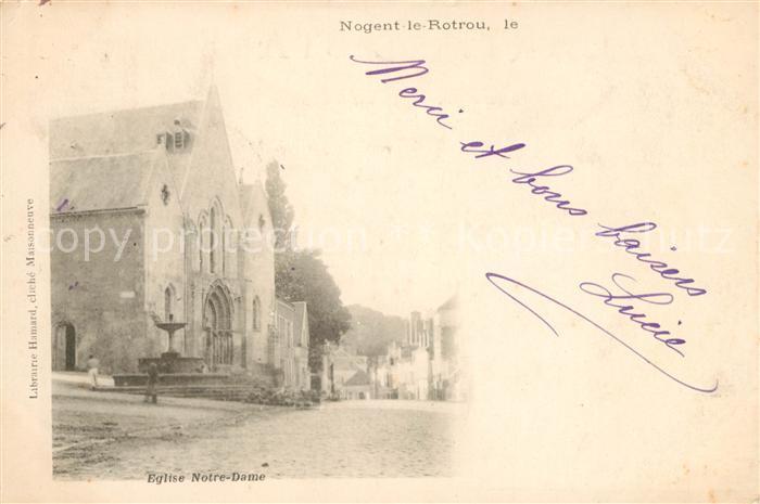 AK / Ansichtskarte Nogent le Rotrou Eglise Notre Dame Kat. Nogent le Rotrou