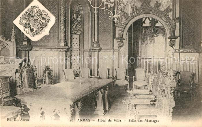 AK / Ansichtskarte Arras Pas de Calais Hotel de Ville Salle des Mariages Kat. Arras