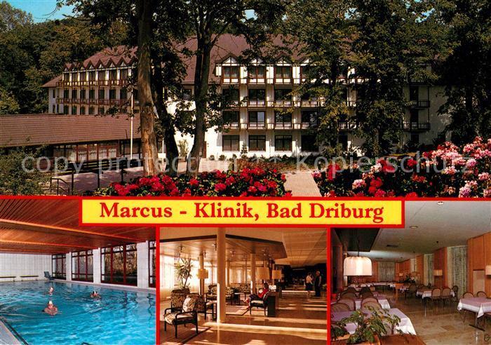 AK / Ansichtskarte Driburg Bad Marcus Klinik Schwimmbad