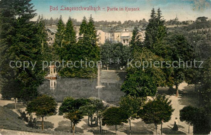AK / Ansichtskarte Bad Langenschwalbach Partie im Kurpark