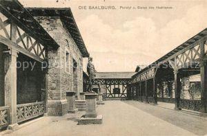 AK / Ansichtskarte Saalburg Saale Peristyl und Statue des Hadrianus Kat. Saalburg Ebersdorf
