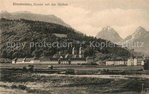 AK / Ansichtskarte Einsiedeln SZ Kloster mit den Mythen Kat. Einsiedeln
