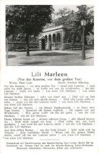 AK / Ansichtskarte Liederkarte Lili Marleen Vor der Kaserne vor dem grossen Tor  Kat. Musik