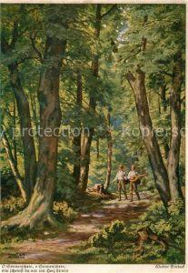 AK / Ansichtskarte Einbeck Walter O Sonnenschein o Sonnenschein Wald Spaziergang Mandoline  Kat. Kuenstlerkarte