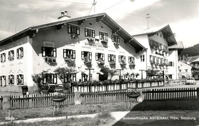 AK / Ansichtskarte Abtenau Gasthof zum roten Ochsen Kat. Abtenau