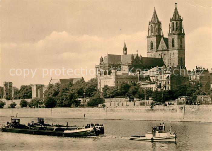 AK / Ansichtskarte Magdeburg Dom an der Elbe Kat. Magdeburg