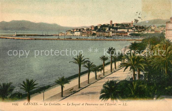 AK / Ansichtskarte Cannes Alpes Maritimes La Croisette Le Suquet et panorama sur l Esterel Kat. Cannes
