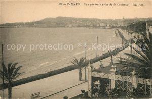 AK / Ansichtskarte Cannes Alpes Maritimes Vue generale prise de la Croisette Kat. Cannes