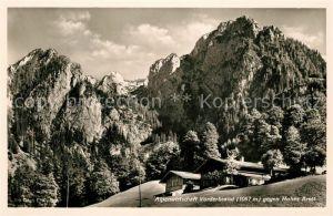 AK / Ansichtskarte Schoenau Berchtesgaden Alpenwirtschaft Vorderbrand mit Hohes Brett Kat. Berchtesgaden