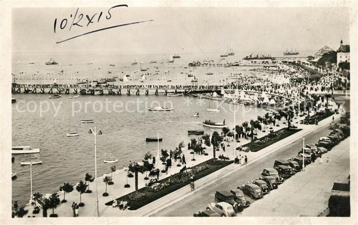 AK / Ansichtskarte Arcachon Gironde Perspective de la rade vue prise du nouveau Boulevard Kat. Arcachon