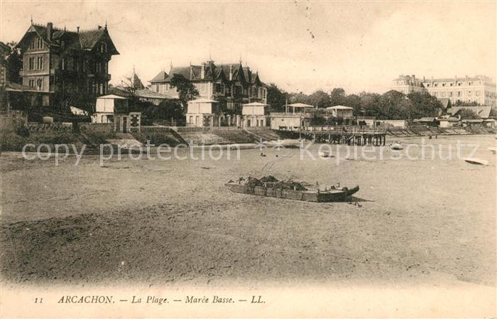 AK / Ansichtskarte Arcachon Gironde La Plage Maree Basse Kat. Arcachon