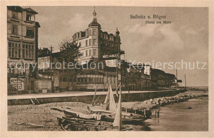 AK / Ansichtskarte Sassnitz Ostseebad Ruegen Hotel am Meer Strand  Kat. Sassnitz