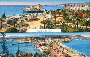 AK / Ansichtskarte Nice Alpes Maritimes Les Jardins Monument Palais de la Jetee Promenade Plage Port Cote d Azur Kat. Nice