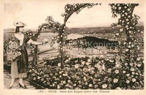 AK / Ansichtskarte Nice Alpes Maritimes Baie des Anges entre les Fleurs Panorama Cote d Azur Kat. Nice