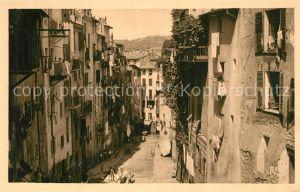 AK / Ansichtskarte Nice Alpes Maritimes Une rue de la vieille ville Kat. Nice