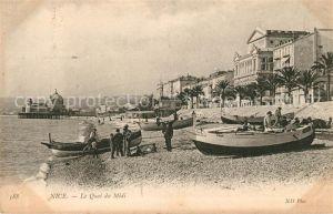 AK / Ansichtskarte Nice Alpes Maritimes Le Quai du Midi Plage Jetee Promenade Cote d Azur Kat. Nice