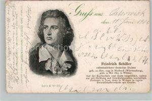 AK / Ansichtskarte Schiller Friedrich  Kat. Dichter
