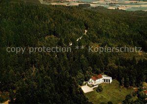 AK / Ansichtskarte Roetz Niederbayern Fliegeraufnahme Pension und Gaststaette Bergfried Kat. Schoenberg