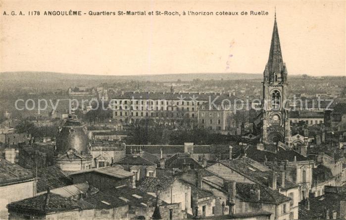 AK / Ansichtskarte Angouleme Quartiers St Martial et St Roch Eglise a l horizon coteaux de Ruelle Kat. Angouleme