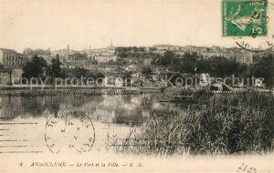 AK / Ansichtskarte Angouleme Le Port et la Ville Kat. Angouleme